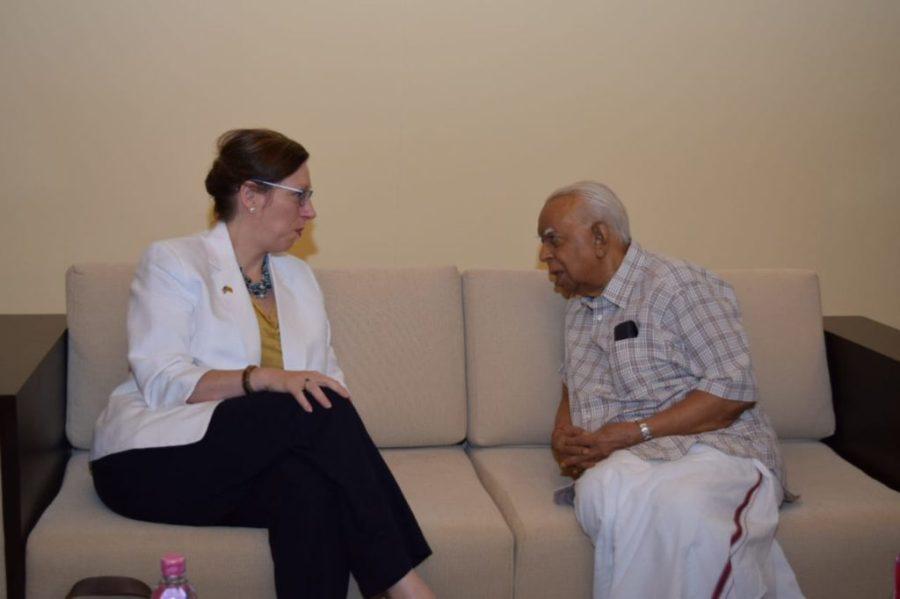 US Ambassador Alaina Teplitz met R Sampanthan!
