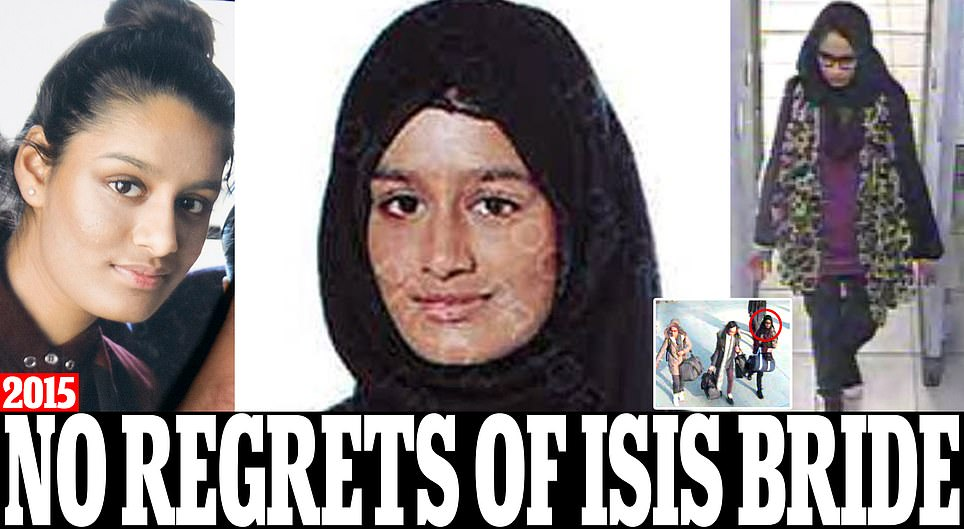 Former London schoolgirl, 19, who ran away to join ISIS with two friends begs to come home