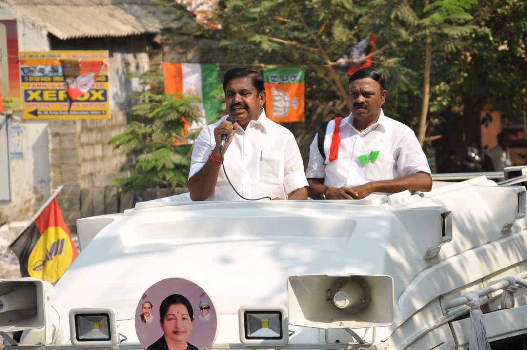 Hectic campaigning by party leaders across TN, EPS in Vellore