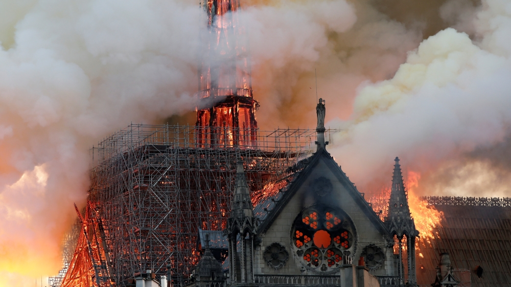 Paris' Notre Dame cathedral 'saved' after massive fire