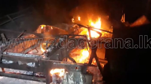 Three lorries damaged in fire at scrap-metal collecting yard