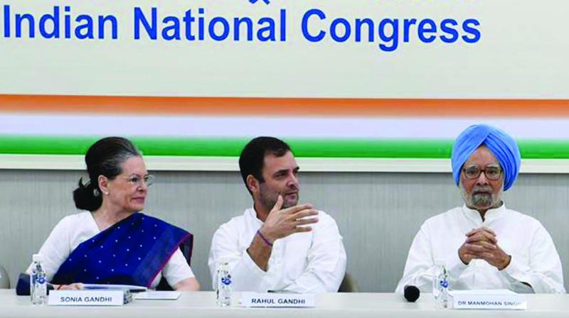CWC elects Sonia Gandhi as interim Congress president