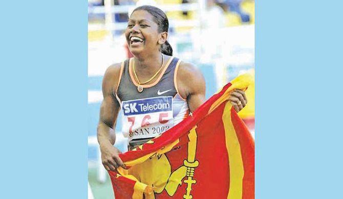 Olympic silver medalist Susanthika contracts with Covid -19