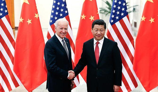 US Joe Bidden and Xing Bing of China on TP conversation