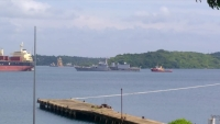 Four Indian Warships at Trincomalee harbor!