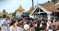 Nallur Trustee Mappana Mudaliyar's final rites in Nallur house! Political leaders, Religious leaders pay their final Tribute!!
