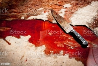 Husband stabs wife with knife at the climax of family trouble and absconding in J/Thaiddy.